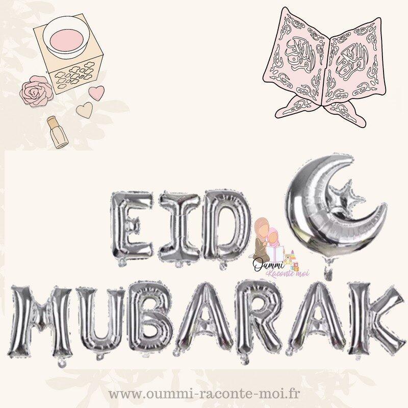 Ballons «Eid Mubarak» – Coloris aux choix