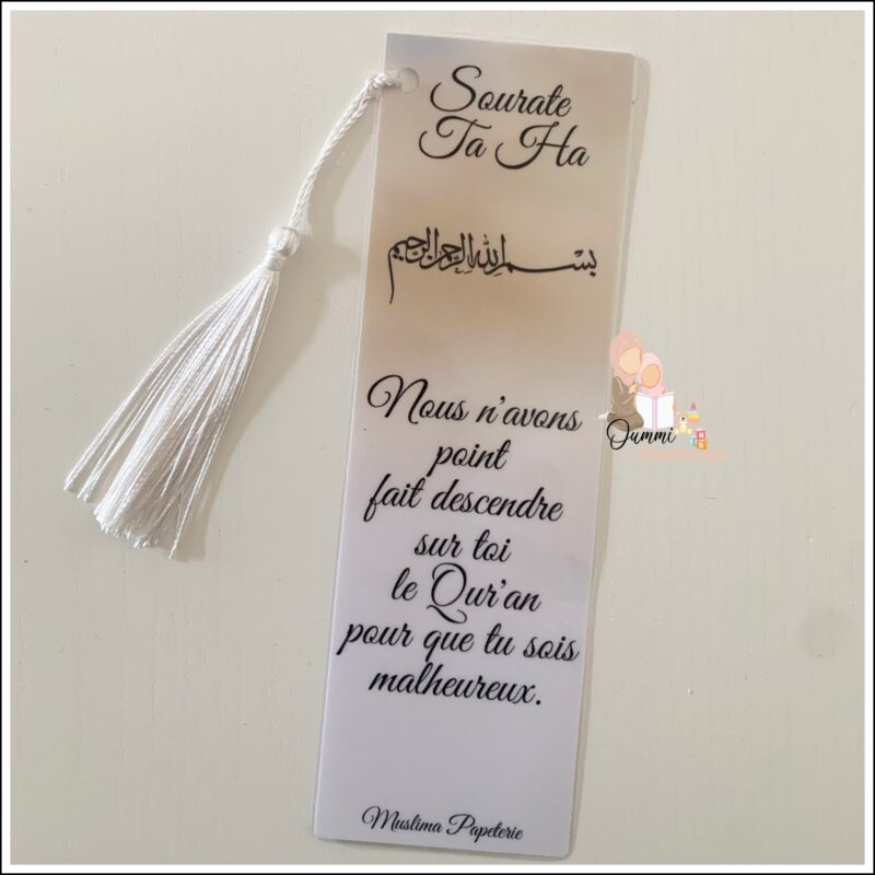 Marque Page «Sourate Ta Ha»